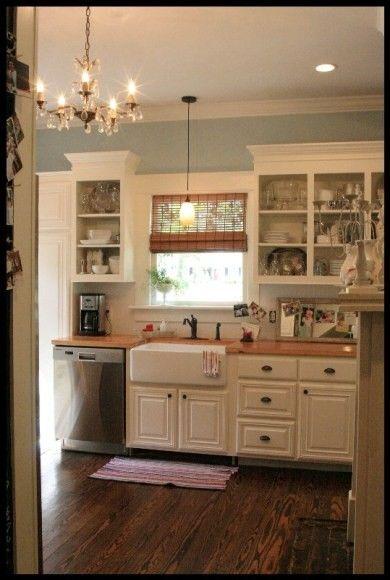 Kitchen sink window, Cream cupboards and Kitchen sinks on Pinterest