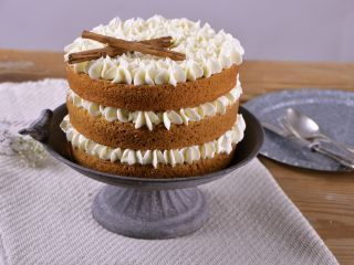 Cake de calabaza con crema de malvavisco. Alma Obregon