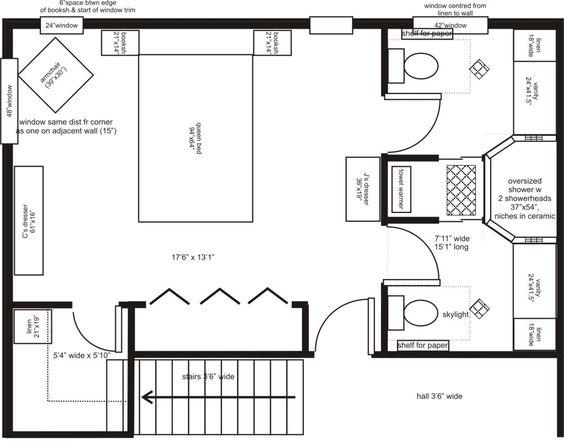 Best Ideas About Bathroom Floor Plans Bathroom Plan And Bathroom Closet On P