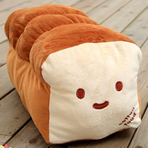 Dual Face Bread Plush Fun Cute Cushion Pillow