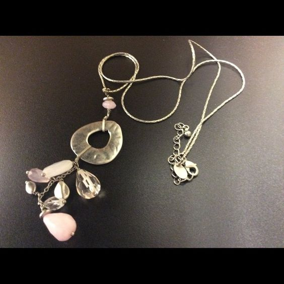 """Lia Sophia Necklace Long Necklace - 28"""" Silver/Pewter Finish. Lia Sophia Jewelry Necklaces"""