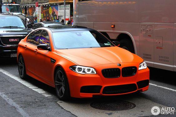 SPOTTED: F10 BMW M5 in Frozen Fire Orange - http://www.bmwblog.com/2014/05/14/spotted-f10-bmw-m5-frozen-fire-orange/