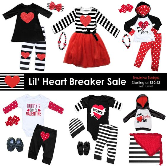 *NEW* Heart Breaker Valentines Outfits exclusive to our store only. Many styles starting at Newborn to size 10/12. Pre-order now and save...: