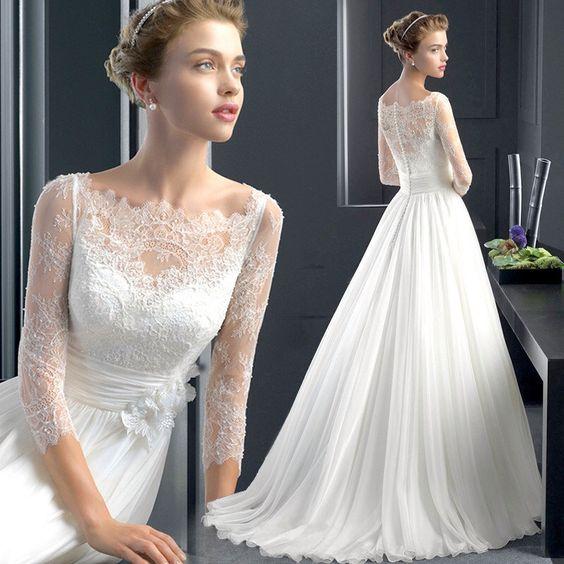 Handmade wedding dress/New White Lace Bridal Gown Wedding Dress Size by PhoebeDressShop on Etsy https://www.etsy.com/listing/249501132/handmade-wedding-dressnew-white-lace