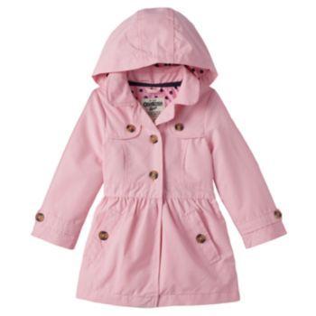 Toddler Girl OshKosh B'gosh Shirred Waist Lightweight Jacket ...