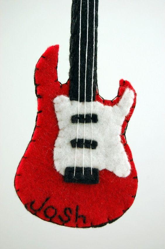 Molde de guitarra eléctrica para broche