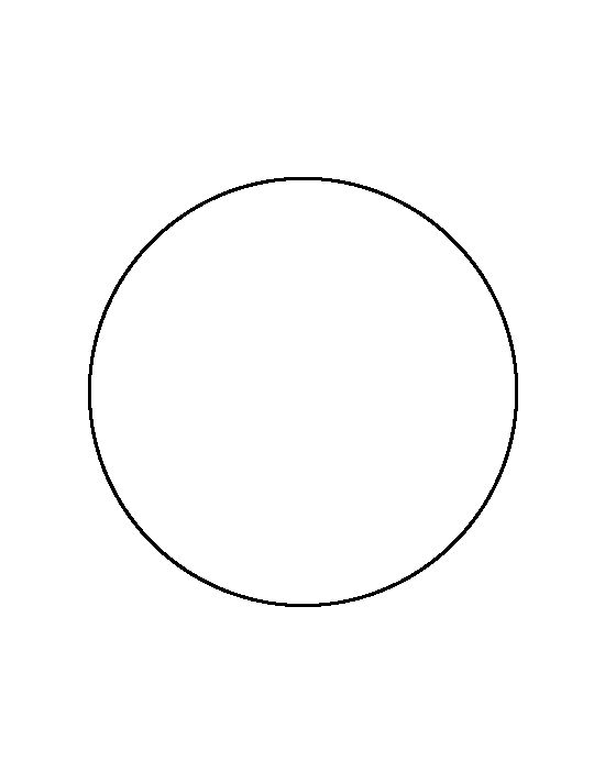 Free 2 Inch Circle Template Printable 6 inch circle pattern. use the ...