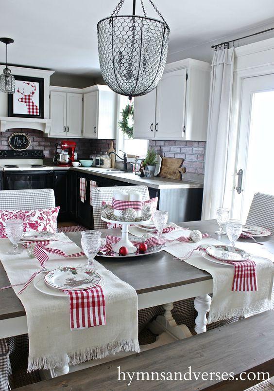 Comedores de navidad, visitas a casas and habitación de la cocina ...