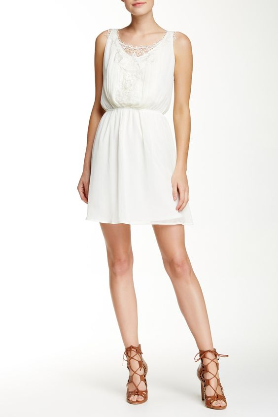 Sleeveless Front Applique Dress by JUST FOR WRAPS on @nordstrom_rack