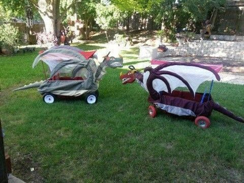 Dragon Wagon ( perfect for Halloween/ Samhain )  a Few Adjustments could be for handicapped persons in wheel chairs or baby strollers or carriages know what I am thinking? Dragon Jousting!!!!