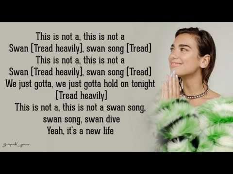Swan Song Dua Lipa Lyrics Youtube Swan Song Songs Lipa