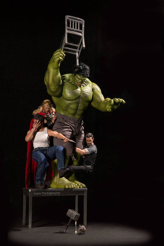Avengers catching a rat