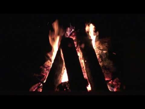 the sound of a wood fire