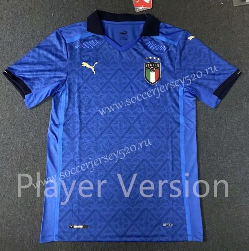 Player Version 2020 2021 Italy Home Blue Thailand Soccer Jersey Aaa In 2020 Soccer Jersey Italy House Soccer