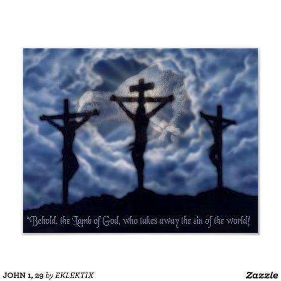 JOHN 1, 29 POSTER