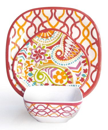 Take a look at this Sorbet Waves 12-Piece Dining Set by Jay Import on #zulily today!