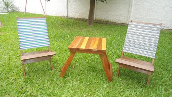 Cadeiras En Madeira Desmontavel - R$ 60,00 no MercadoLivre