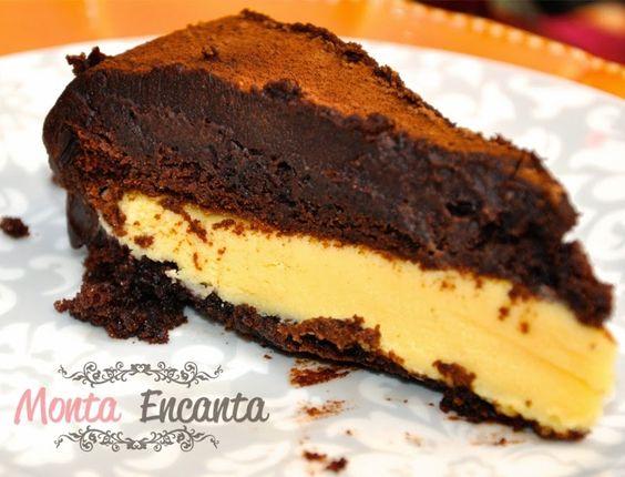 Bolo de chocolate trufado de maracujá! Delicioso e fácil!