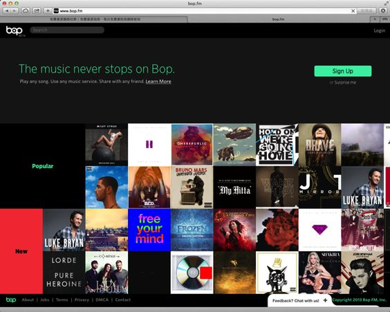 Bop.fm 線上音樂聚合服務,免費聽歌還能推薦分享給好友