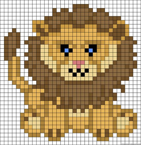 Lion perler bead pattern