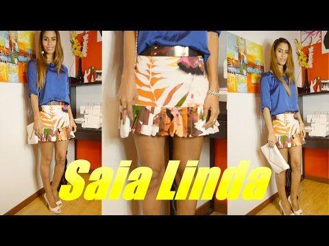 Costura saia linda por Janaina Pauferro - YouTube