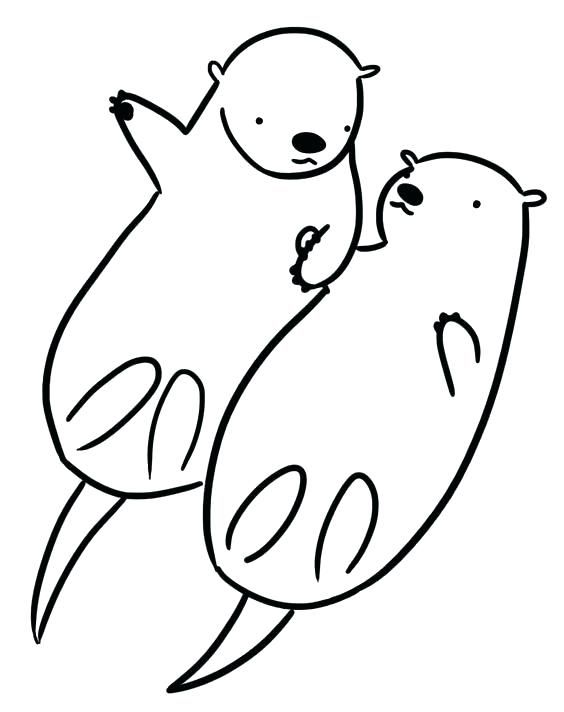 Otter Coloring Pages Printable Otter Coloring Page Otter Coloring