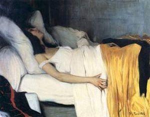 "Art Contemporani, ""La Morfina"" de Santiago Russiñol, Simbolisme"