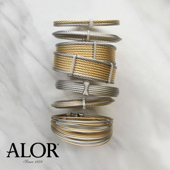 Stack them, wrap them, or wear them solo.  Compliment all of your best spring outfits with one (or more)! #alor