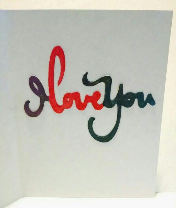 I love you card (inside)