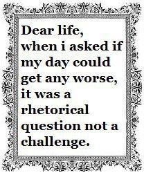 Dear life, thanks!