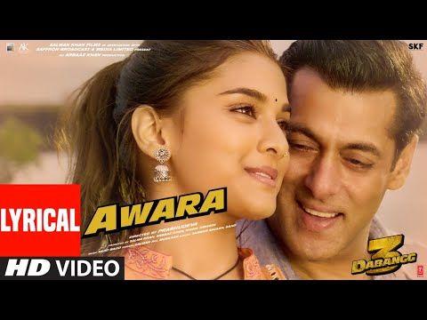 1 Lyrical Awara Dabangg 3 Salman Khan Sonakshi S Saiee M Salman Ali Muskaan Sajid Wajid Youtube V 2020 G Muzyka Video