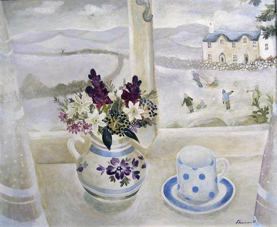 Sarah Bowman (b.1975) —  The First Snowfall, 2012  (1200×983):