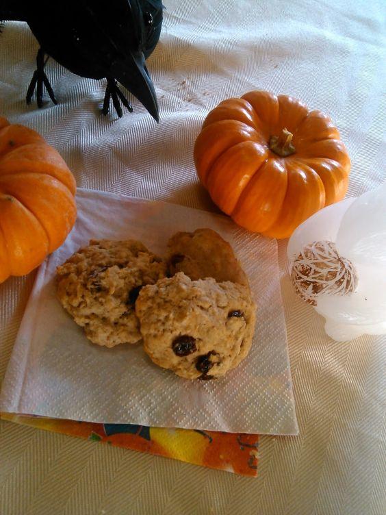 Vegan Diamond Baking: First Post! Yay! Vegan Gluten-Free Pumpkin Spice Oatmeal Raisin Cookies