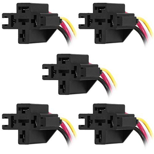 uxcell 5pcs 12V DC 4-Pin 30/40Amp SPDT Automotive ... on 8 pin 24vdc relay, 8 pin octal relay, 8 pin latching relay, dayton 8 pin relay, 8 pin ac relay,