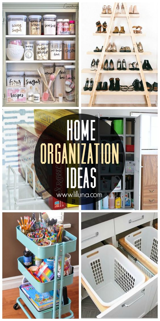 15+ Home Organization Ideas - get organized at the start of this new year! From closet spaces, to the fridge, to the garage, there are plenty of awesome organization ideas to get you started!