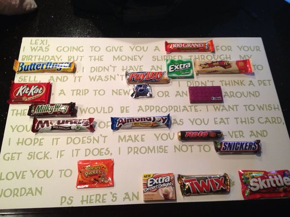 Made This Candy Card For My Best Friends Birthday My