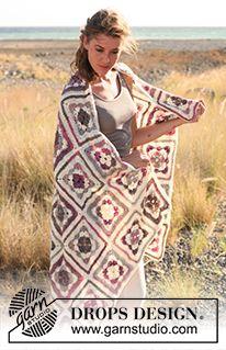 """A Weekend in New England - Crochet DROPS blanket in """"Fabel"""". - Free pattern by DROPS Design"""