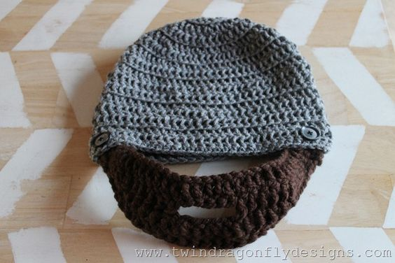 Beanie Hat With Beard Crochet Pattern Free : Pattern for a crochet beard beanie. Chrocheting ...