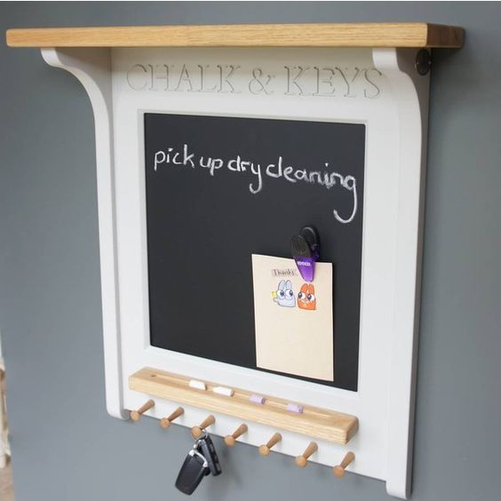 Chatsworth Cabinets Chalk Board And Magnetic Noticeboard With Key Rack  ($225) ❤ Liked On