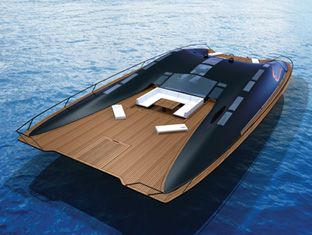 The powertrain of the ARK Solar Boat consists of solar panels which are subtly integrated into the upper structure of the boat, these charge up the silicon nanotube batteries which are located low down in the hull. Silicone nanotube batteries - which are currently being developed in labs - can store around 10 times the electrical power of comparable sized lithium-ion batteries!