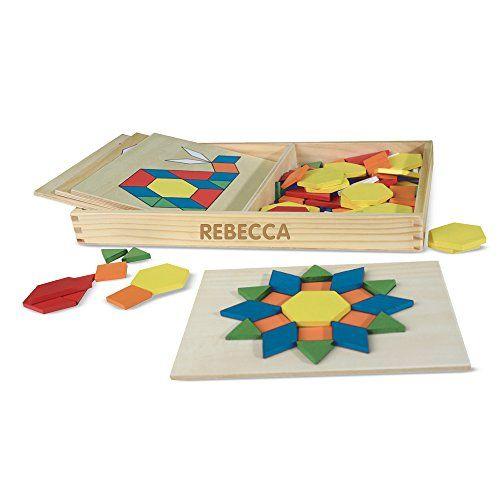 Melissa Doug Personalized Pattern Blocks Boards Classic Toy