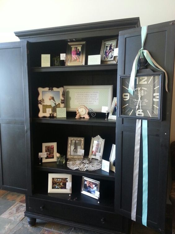 Bride and groom cabinet