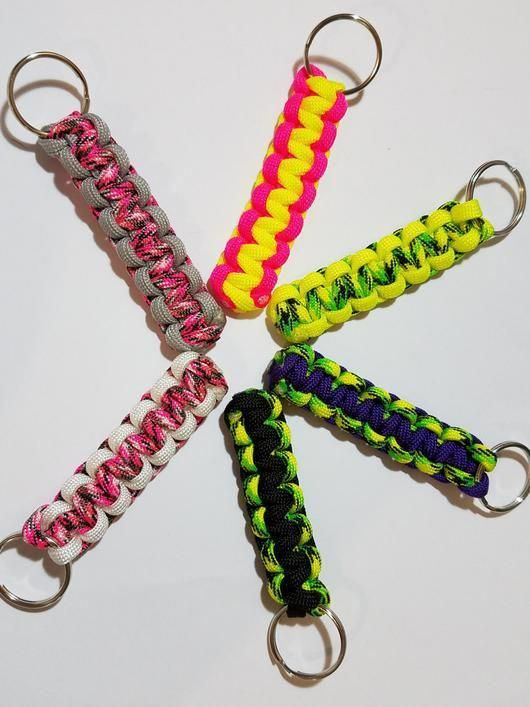 Paracord Keychain One Keychain Multiple Colors Custom Made