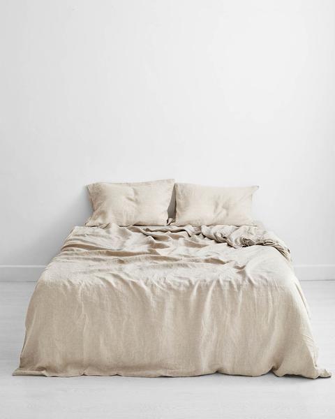Oatmeal 100 Flax Linen Bedding Set In, Linen Bedding Sheets