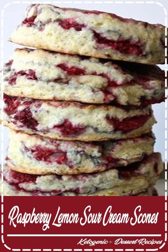 Raspberry Lemon Sour Cream Scones Would Be Perfect On Christmas Morning A Dollopofdaisy Sour Cream Makes Them Tender Moist Ad Sour Cream Scones Desserts Food Recipes