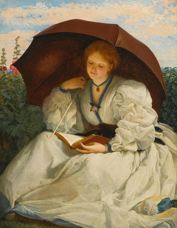 Charles Edward Perugini Painting - Reading On A Sunny Afternoon by Charles Edward Perugini