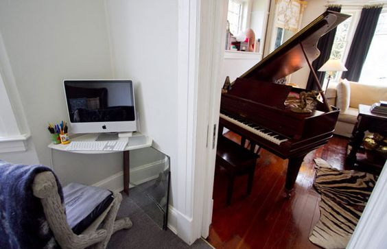 Making room for the piano home pinterest small for Where to put a piano in a small house
