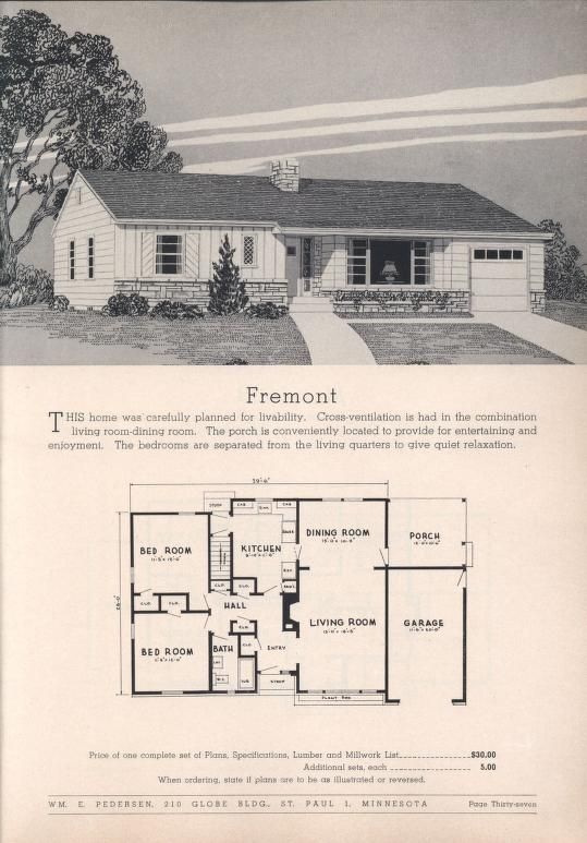 Practical Homes 10th Ed Wm E Pedersen Free Download Borrow And Streaming Internet Archive Architectural Floor Plans Vintage House Plans Ranch House Plans