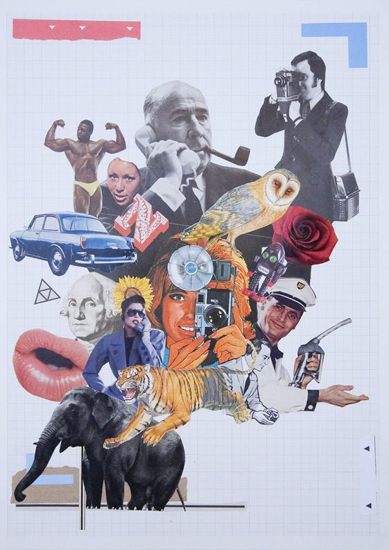 #Cut and #paste #collage by Steve Quinn