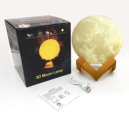 3d Moon Lamp With Stand Rechargeable Moon Night Light Lamps Touch Sensor Control Moon Light Lamps Decorative Moon Light Lamp Night Light Lamp Night Light
